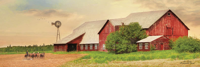 Lori Deiter LD1113 - LD1113 - Brownsville Farm - 36x12 Farm, Barn, Photography, Horses, Landscape from Penny Lane