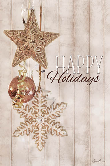 Lori Deiter LD1121 - Gold Sparkle Happy Holidays - Holidays, Ornaments, Star from Penny Lane Publishing