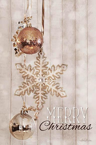 Lori Deiter LD1122 - Gold Sparkle Merry Christmas - Holidays, Ornaments, Star from Penny Lane Publishing