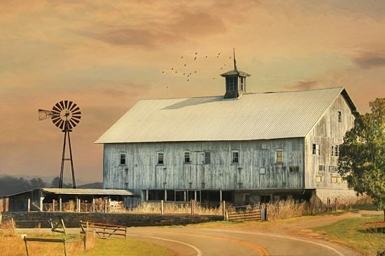 Lori Deiter LD1123 - Barn on the Curve - Barn, Farm, Windmill, Landscape from Penny Lane Publishing
