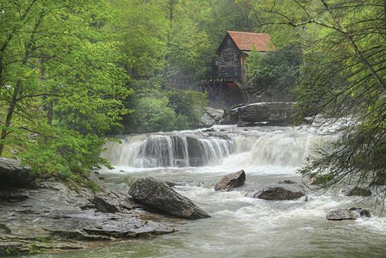 Lori Deiter LD1124 - Glade Creek Grist Mill - Grist Mill, Creek, Trees, Rocks from Penny Lane Publishing