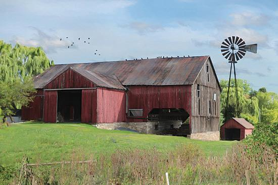 Lori Deiter LD1128 - Summer in Pennsylvania - Farm, Barn, Windmill, Landscape from Penny Lane Publishing