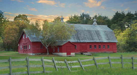 Lori Deiter LD1133 - Fenced In - Barn, Farm, Fence, Landscape from Penny Lane Publishing