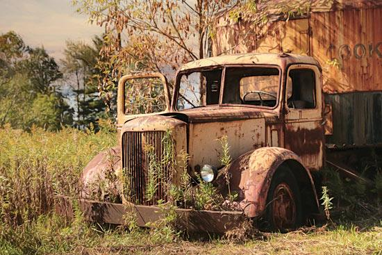 Lori Deiter LD1138 - Old Yellow Truck - Truck, Rusty, Field from Penny Lane Publishing