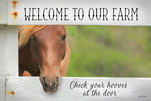 Lori Deiter LD1140 - Welcome Horse - Horse, Welcome, Farm, Greeting, Signs, Fence from Penny Lane Publishing