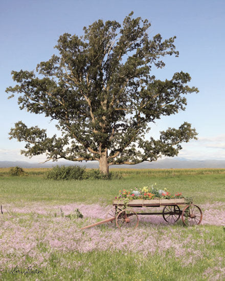 Lori Deiter LD1662 - LD1662 - Yesteryear Wagon  - 12x16 Photography, Flower Wagon, Tree, Landscape from Penny Lane