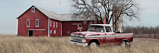 Lori Deiter LD1681A - LD1681A - Western Ohio Barn  - 36x12 Barn, Rooster, Truck, Farm, Silo, Wheat Field from Penny Lane