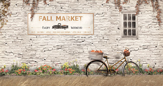 Lori Deiter LD1809 - LD1809 - Fall Market with Bike   - 18x9 Signs, Typography, Fall, Bicycle, Flowers, Pumpkins, Market from Penny Lane