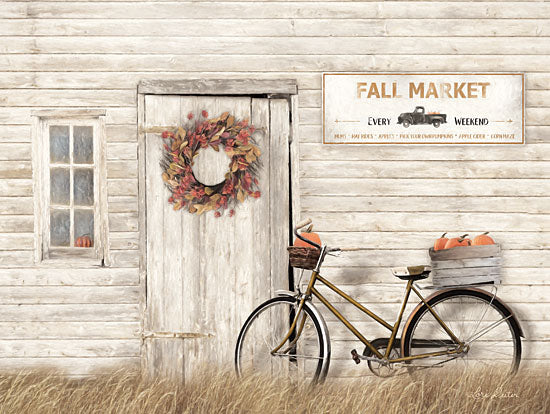 Lori Deiter LD1810 - LD1810 - Pumpkin Bicycle   - 16x12 Signs, Typography, Wreath, Fall, Bicycle, Pumpkins from Penny Lane