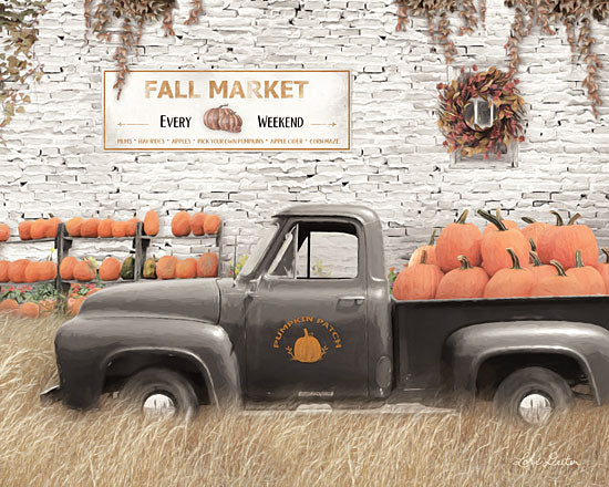 Lori Deiter LD1811 - LD1811 - Fall Pumpkin Market       - 18x12 Signs, Typography, Truck, Vintage, Pumpkins, Wreath from Penny Lane