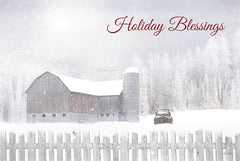 LD1859 - Holiday Blessings with Truck - 18x12