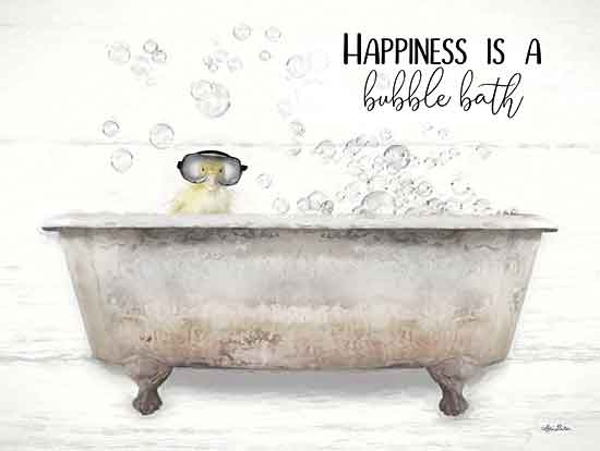 Lori Deiter LD1932 - LD1932 - Happiness Bubble Bath - 16x12 Signs, Typography, Bathtub, Duckling, Goggles, Humor, Bubble Bath from Penny Lane