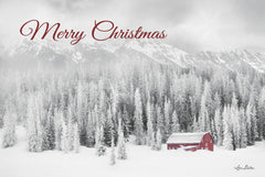 LD2009 - Merry Christmas Rocky Mountains Snow Storm    - 18x12