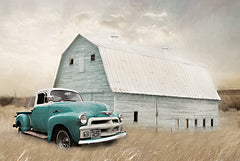 LD2054 - Teal Barn and Truck - 18x12