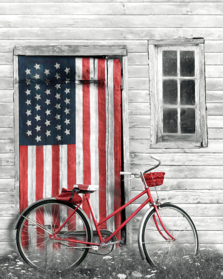 Lori Deiter LD2188 - LD2188 - Patriotic Bicycle - 12x16 Bicycle, Bike, American Flag, Patriotic, Still Life, Photography, USA from Penny Lane