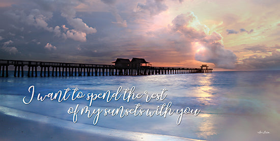 Lori Deiter LD2205 - LD2205 - Rest of My Sunsets I - 18x9 Sunsets, Dock, Ocean, Nature, Calligraphy, Coastal, Photography from Penny Lane