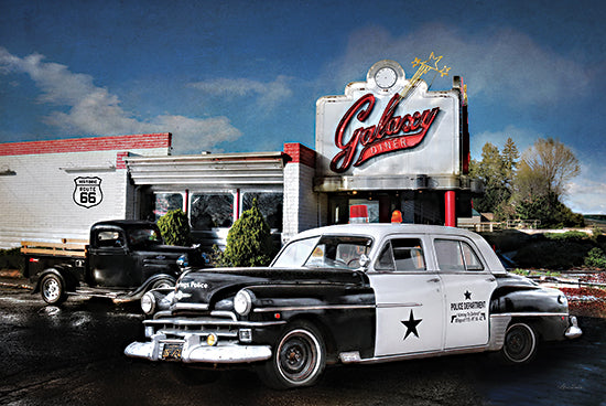 Lori Deiter LD2270 - LD2270 - Down Memory Lane - 18x12 Police Car, Diner, Nostalgia, Retro, Route 66, Old Fashioned, Photography from Penny Lane