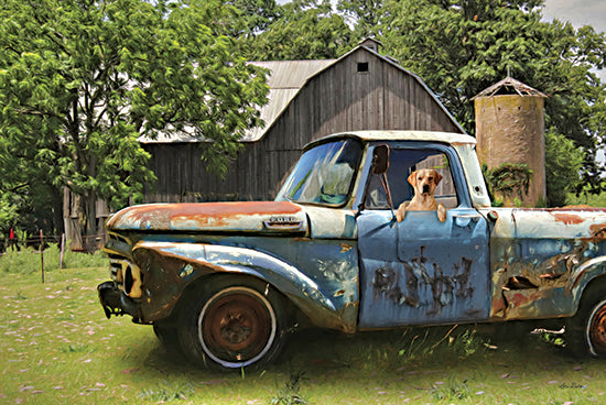 Lori Deiter LD2272 - LD2272 - Born to Ride - 18x12 Rusty Truck, Truck, Dog, Barn, Farm, Photography from Penny Lane