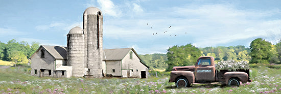 Lori Deiter LD2323A - LD2323A - Annville Summer Fields - 36x12 Barn, Farm, Truck, Flowers, Wild Flowers, Landscape, Photography from Penny Lane