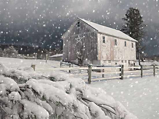 Lori Deiter LD2364 - LD2364 - Grantville Farm - 16x12 Farm, Barn, Winter, Snow, Christmas, Holidays, Barn Star from Penny Lane