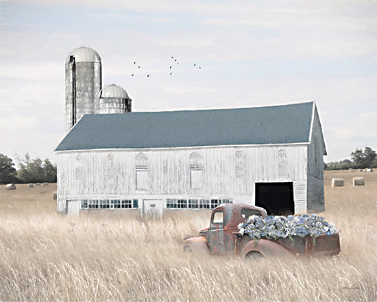 Lori Deiter LD2375 - LD2375 - Late Summer Breezes - 16x12 Farm, Barn, Flowers, Truck, Rusty Truck, Wheat, Autumn, Harvest, Photography from Penny Lane