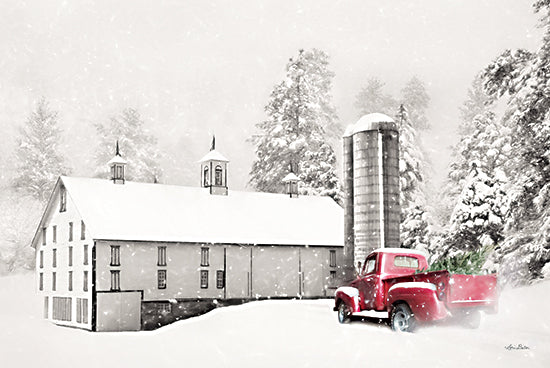Lori Deiter LD2388 - LD2388 - I'm Coming Home - 18x12 Barn, Farm, Truck, Christmas Tree, Winter, Christmas, Holidays, Snow from Penny Lane
