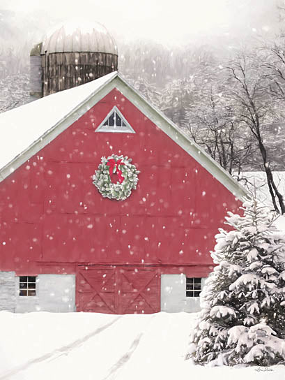 Lori Deiter LD2394 - LD2394 - That Christmas Feeling - 12x16 Holidays, Barn, Farm, Winter, Wreath, Photography from Penny Lane