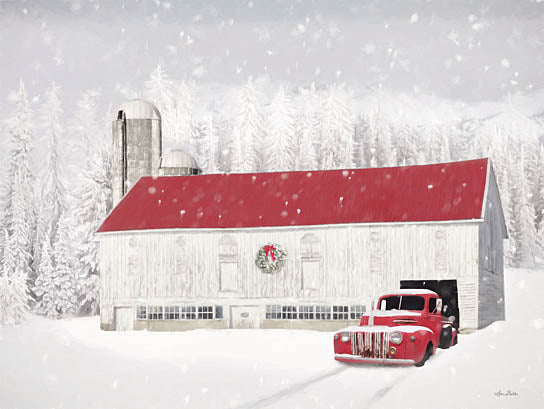 Lori Deiter LD2397 - LD2397 - Wyoming Christmas Barn - 16x12 Barn, Farm, Truck, Winter, Holidays, Snow, Photography from Penny Lane
