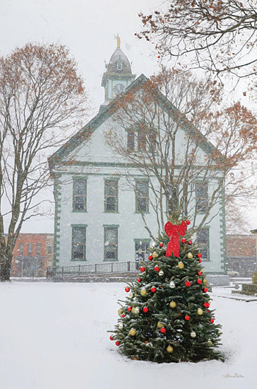 Lori Deiter LD2416 - LD2416 - Christmas Church - 12x18 Church, Holidays, Winter, Christmas, Christmas Tree, Photography from Penny Lane
