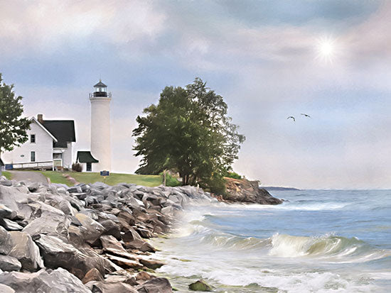 Lori Deiter LD2460 - LD2460 - Afternoon at Tibbetts Point - 16x12 Lighthouse, Tibbetts Point, Ocean, Trees, Cape Vincent, New York, Photography from Penny Lane