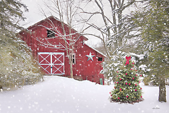 Lori Deiter LD2510 - LD2510 - Secluded Holiday - 18x12 Barn, Farm, Christmas Tree, Winter, Christmas, Holidays, Snow from Penny Lane