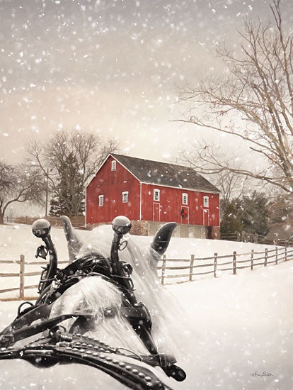 Lori Deiter LD2512 - LD2512 - Winter Ride - 12x16 Winter Ride, Horse, Winter, Snow, Barn, Farm, Snow, Photography from Penny Lane