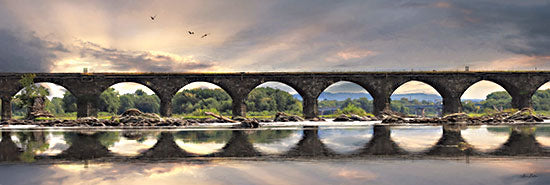 Lori Deiter LD2514A - LD2514A - Rockwell Sunrise      - 36x12 Bridge, Photography, River, Landscape, Reflection from Penny Lane