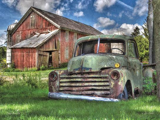 Lori Deiter LD278 - Days Gone By - Barn, Truck, Farm, Brocken Down from Penny Lane Publishing