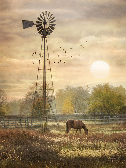 Lori Deiter LD487 - Berks Co. Sunrise - Windmill, Horse, Sun, Pasture from Penny Lane Publishing