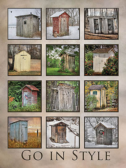 Lori Deiter LD488 - Go in Style - Outhouses, Collage, Signs from Penny Lane Publishing