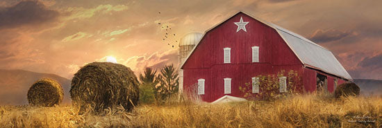 Lori Deiter LD575 - Bedford County Sunset  - Barn, Haystacks, Barn star, Farm from Penny Lane Publishing