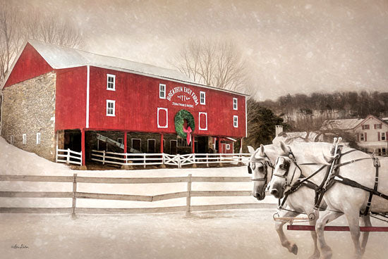 Lori Deiter LD609 - Breathing Easy Farm - Barn, Horses, Winter, Snow from Penny Lane Publishing