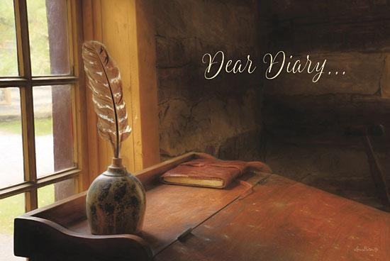 Lori Deiter LD624 - Dear Diary - Ink, Quill, Desk, Diary, Primitive from Penny Lane Publishing