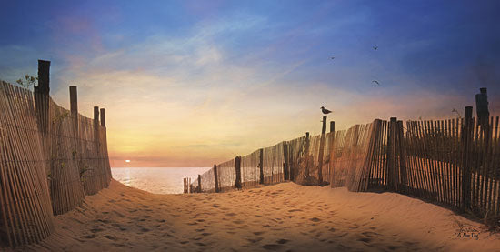 Lori Deiter LD648 - A New Day - Beach, Sand, Fence, Coastal from Penny Lane Publishing