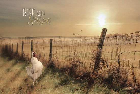 Lori Deiter LD650 - Rise and Shine - Rooster, Fence, Landscape from Penny Lane Publishing