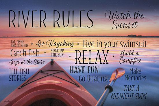 Lori Deiter LD654 - River Rules - River, Rules, Boat, Typography from Penny Lane Publishing