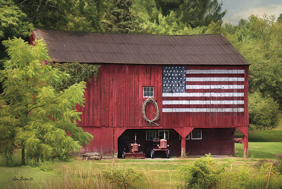 Lori Deiter LD668 - LD668 - Patriotic Farmer - 18x12 Farm, Barn, American Flag, Patriotic, Tractors, Photography from Penny Lane