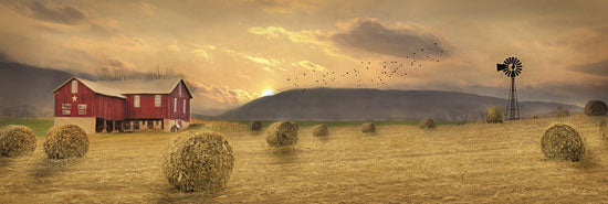 Lori Deiter LD690 - Workin' the Farm - Barn, Hay Bales, Farming, Landscape from Penny Lane Publishing