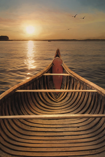 Lori Deiter LD767 - Sunset on the Lake II - Lake, Canoe, Sun from Penny Lane Publishing