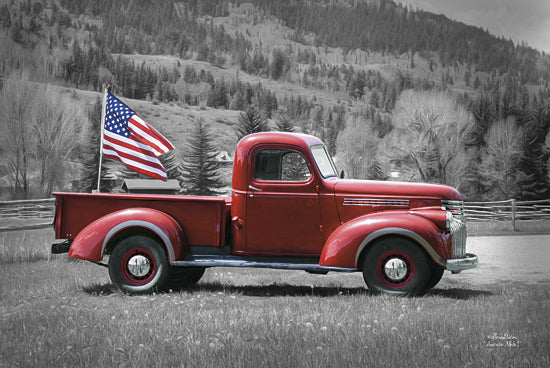 Lori Deiter LD772 - American Made I - Keywords, Truck, Red, Black and White, Patriotic, USA, Flag from Penny Lane Publishing
