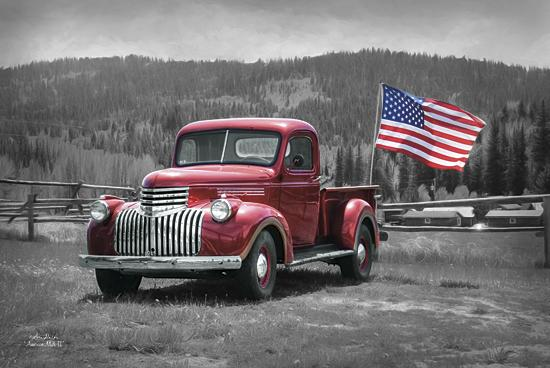 Lori Deiter LD773 - American Made II - Keywords, Truck, Red, Black and White, Patriotic, USA, Flag from Penny Lane Publishing