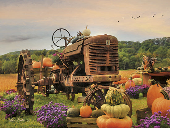 Lori Deiter LD807 - The Harvester - Tractor, Flowers, Pumpkins, Farm from Penny Lane Publishing