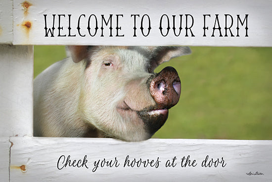 Lori Deiter LD822 - Welcome Pig - Pig, Welcome, Humor, Fence from Penny Lane Publishing