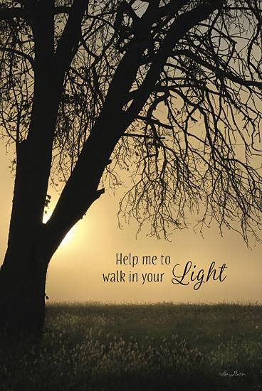 Lori Deiter LD851 - Help Me to Walk in Your Light - Path, Sun, Tree, Landscape, Inspirational, Photography from Penny Lane Publishing